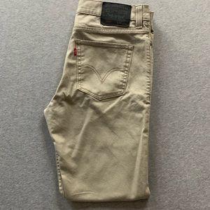 """Levi's 510 """"Super Skinny"""" Tan Jeans (34 x 30)"""